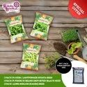 Combo Pack (Okra Bhindi+France Beans+Long Melon Seed) With 1 Pack Of Vermicompost Free