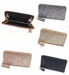Clutch 4 Colors Women's Indian Wallet With Two Fold Multicolor Design