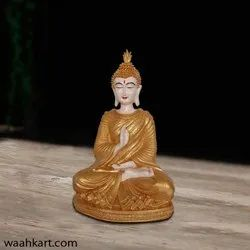 Gautam Buddha In Golden Shade