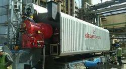 Oil & Gas Fired 1000 kg/hr Water Tube Steam Boiler, IBR Approved