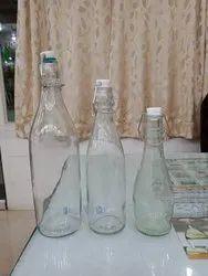 Clear Glass Water Bottle 1000 Ml,500 Ml,250 Ml Swing Neck, Size: 1 Litre