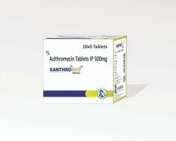 Xanthro-500 Azithromycin 500mg Tablets, 30 Tablets