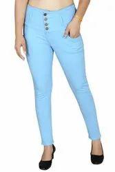 Casual Wear Stretchable WOMEN DENIM JEANS, Size: 28 To 40, Machine wash