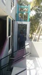OUTDOOR HYDRAULIC  HOME LIFT WITH GLASS -MERRIT