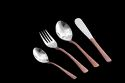 Smokey Finished Copper Hammered Cutlery