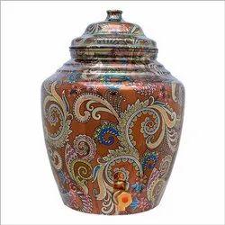 RKM Pure Copper Water Matka(Pot) Utensils 13 Liters capacity