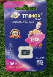 16GB Trimax Micro SDHC Card, 10