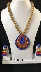 Handmade Terracotta Necklace Set