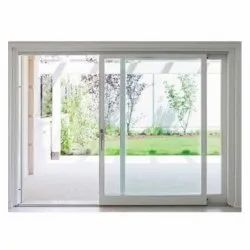 Pristine White 8feet Sliding Glass Door, For Home And Office, Interior