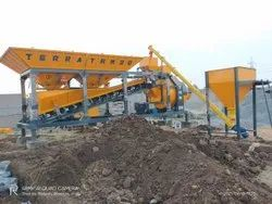 Mobile Concrete Batching Plant With Reversible Drum Mixer