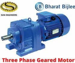Bharat Bijlee Three Phase Helical Geared Motors