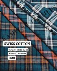 Swiss Cotton Yarn Dyed Shirting Fabric