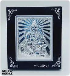 Silver Ganesha  Acrylic Frame
