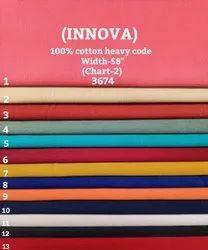 Innova 100% Cotton Heavy Code Shirting Fabric