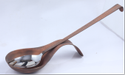 Smokey Finished Hammered Bunny Rabbit Spoon Rest