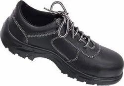 Black Leather Karam Abawrf Safety Shoes