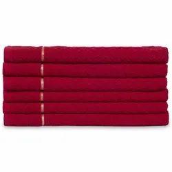 Plain Red Divine Overseas Cotton Kitchen Towel, Wash Type: Machine Wash, 600 Gram