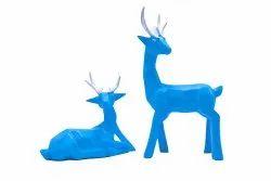 Resin Deer Set Showpiece