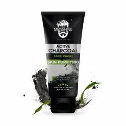 THE MENSHINE Herbal Activated Charcoal Face Wash, Age Group: Adults, Packaging Size: 100ML