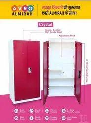 2 Doors Avro Almirah Crystal - High Grade Steel, With Locker