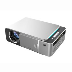 White Color T6 mini Portable Projector 3500 Lumens Upgraded Screen Mirror Function