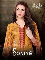Naayika Export Soniye Vol-17 Printed Soft Cotton With Chiffon Dupatta Suits Catalog