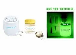 Green Camphor Aroma Diffuser With Night Lamp