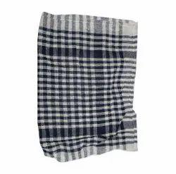 Check White and Black Cotton Kitchen Napkins, Size: 8X10inch