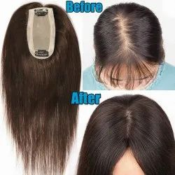 Skin Partition Human Hair Topper