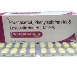Paracetamol 325mg, Phenylpherine 5mg And Levocetrizine 5mg Wesnac Cold