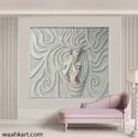 Abstract Lady Mural