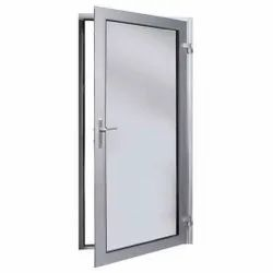 Silver Polished Office Aluminium Single Door, Thickness: 6mm