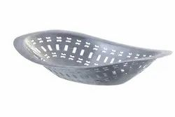 Oblong Perforated Bread Basket Matte Finish