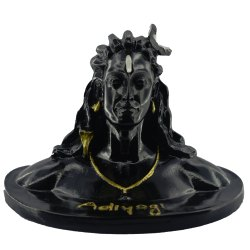 Ssgj Black Adiyogi Idol Made Of Resin