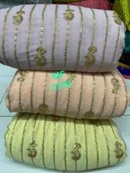 Embroidered Fox Georgette Fabrics