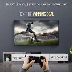 Reintech Black 65 Inch LED Television, Resolution: 3840 X 2160 Pixels