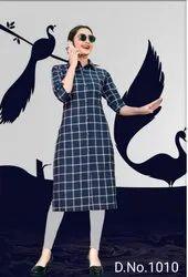 Casual Wear Straight KAYRAAH TRENDY RAYON KURTI CATALOG, Wash Care: Dry clean