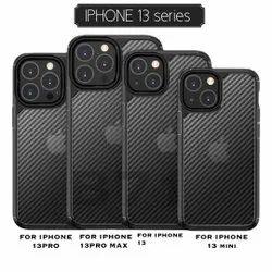 Silicone Black Iphone 13, 13 Mini, 13 Pro, 13 Pro Max Carbon Fibre Bumper Cover