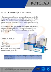 High Speed Plastic Mixer Machine 25 Kgs
