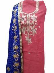 Chanderi Gota Work Suit
