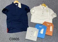 3 Button Collar Men T Shirts