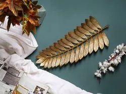 Aluminum Decorative Leaf Platter