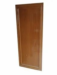 Glossy 8feet Brown Wooden PVC Door, For Home