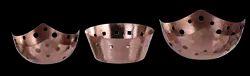 Copper Hammered Finished Bread Baskets