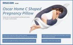 Pregnancy Pillow, Grey C-Shape Full Body Pillow & Maternity Support  for Back, Hips, Legs, Belly