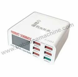 I103 6 Port Charger With 3.0 Fast Charger USB Port Tools