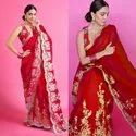 Organza Saree With Embroidery Sumshy