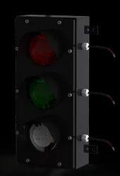 4 Inch Triple Horizontal Traffic Light