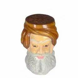 Rajasthani Man Face FRP Multipurpose Stool