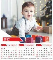 Four Sheet Wall Calendar 202- Little World